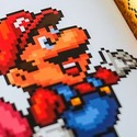 The SNES Pixel Book with image of Mario