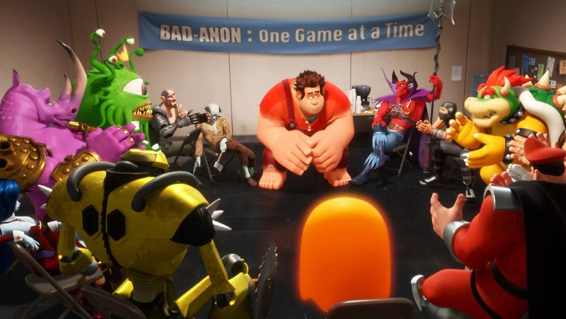 Ralph at his Bad-Anon support group meeting. WRECK-IT RALPH ©2012 Disney. All Rights Reserved