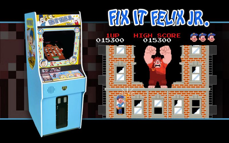 WRECK-IT RALPH - Fix-It Felix, Jr. Game Cabinet ©2012 Disney. All Rights Reserved