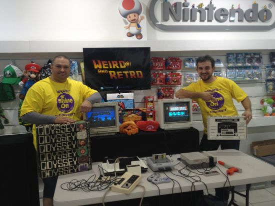Kano and Serby at the Nintendo Experience for EB's Starlight GameAThon 2013 fundraiser