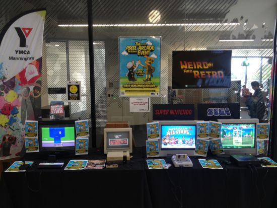 The 'Interactive Retro Gaming Museum' for YMCA's Pixel Arcade event