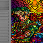 Stained-Glass Style 80s Movie and Game Posters
