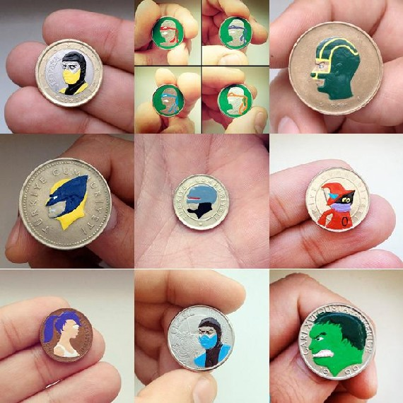 painted coins - combined