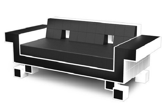 retro invader couch