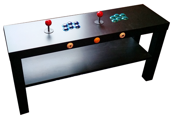 Pik3a raspberry pi 3 ikea cocktail tables ausretrogamer for Ikea table d arcade