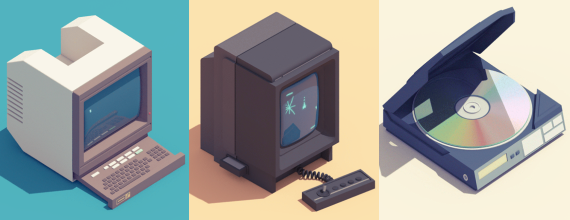 3D Animation Of Vintage Electronics
