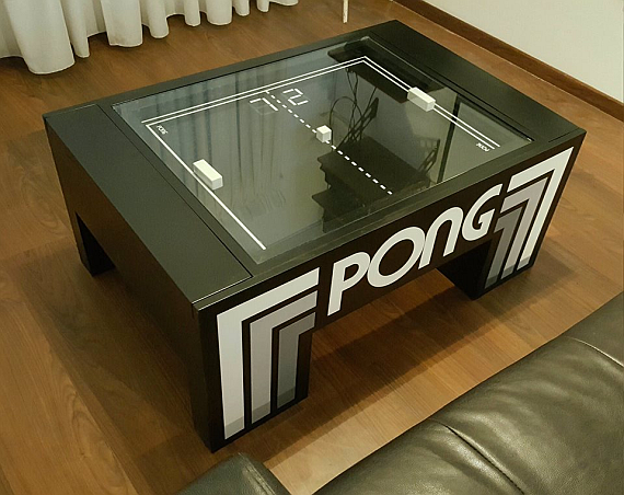 Play Atari Pong On Your Coffee Table AUSRETROGAMER - Atari coffee table