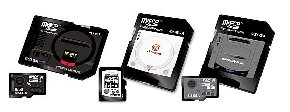 Sega-Retro Gaming-Inspired MicroSD Cards