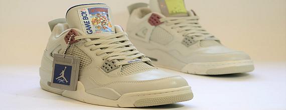 Air Jordan IV GAME BOY Sneakers – Super Mario Land Edition