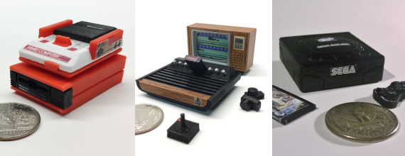 Mini 3D Printed Classic Consoles and Computers