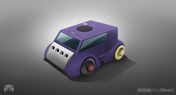 Classic Gaming Consoles Redesigned As Cars AUSRETROGAMER