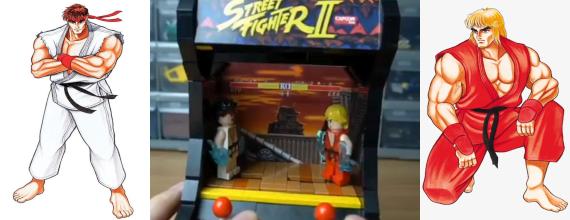 Mechanical LEGO Street Fighter II
