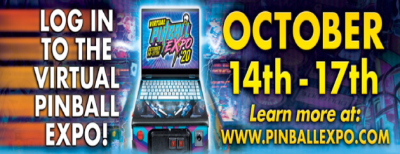 Pinball Expo 2020 Goes Virtual – Oct. 14-17